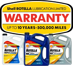 Shell Rotella Lubrication Limited Warranty